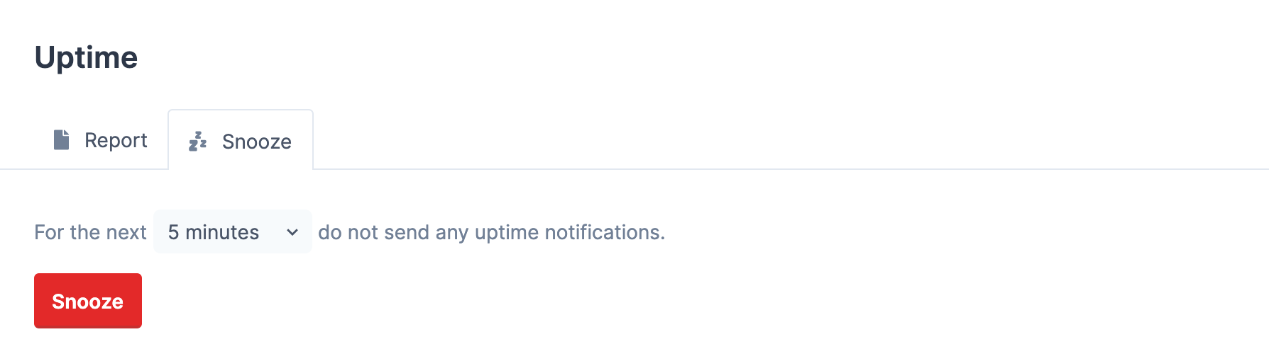 Snoozing notifications