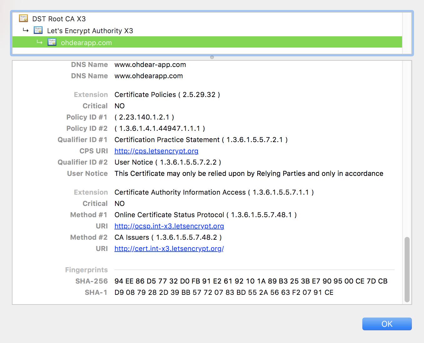 Ssl Certificate Monitoring Oh Dear